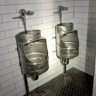 South Beach Hotel Urinals